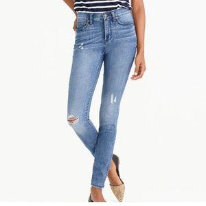 "J CREW 10.5"" High-Rise Skinny Jean in Bella Wash"